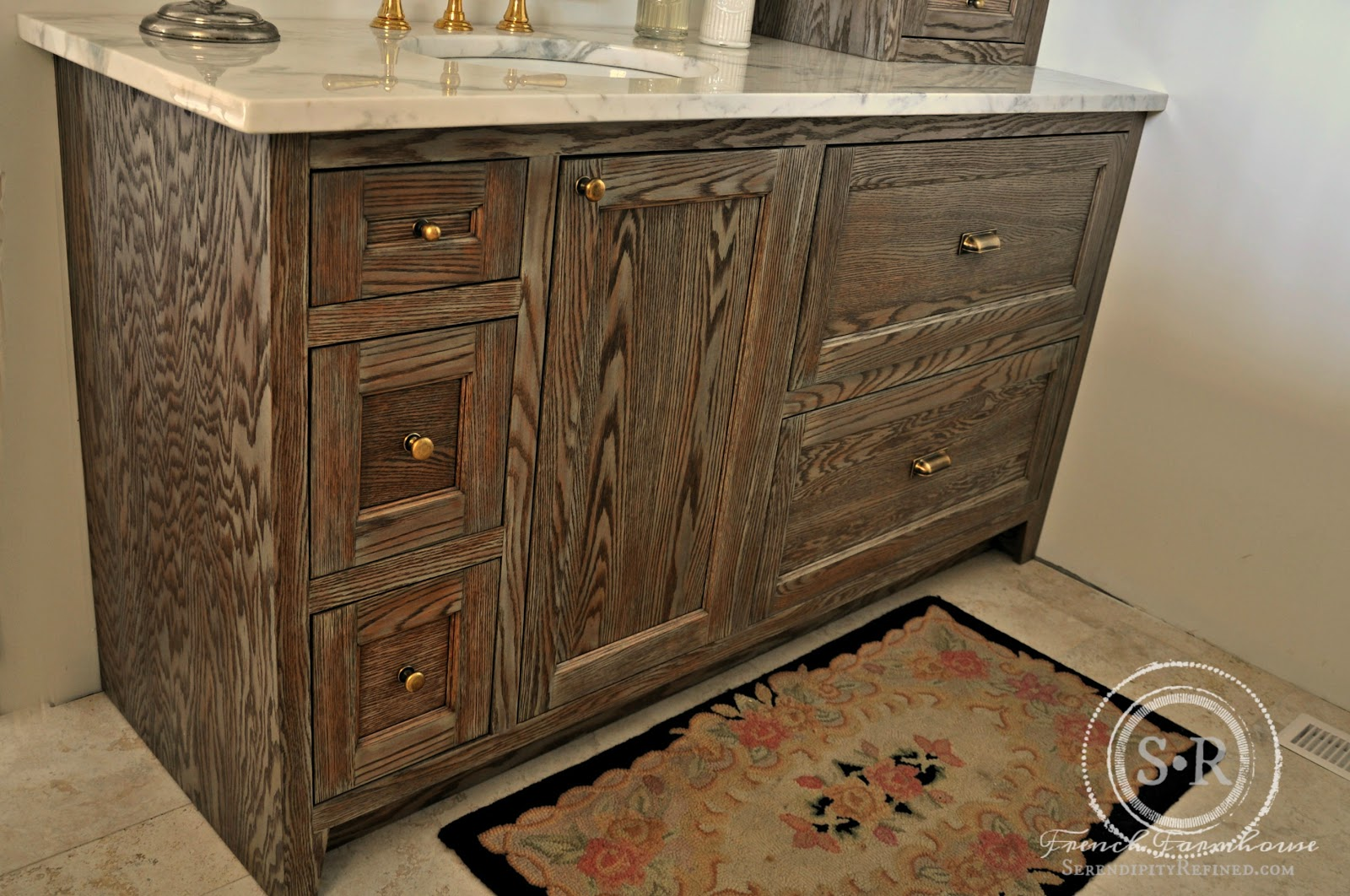 The Very First Thing That You See When You Walk Into The Room Is The  Beautiful, Wire Brushed Oak Vanity That Was Made By A Remarkable Amish  Cabinet Maker ...